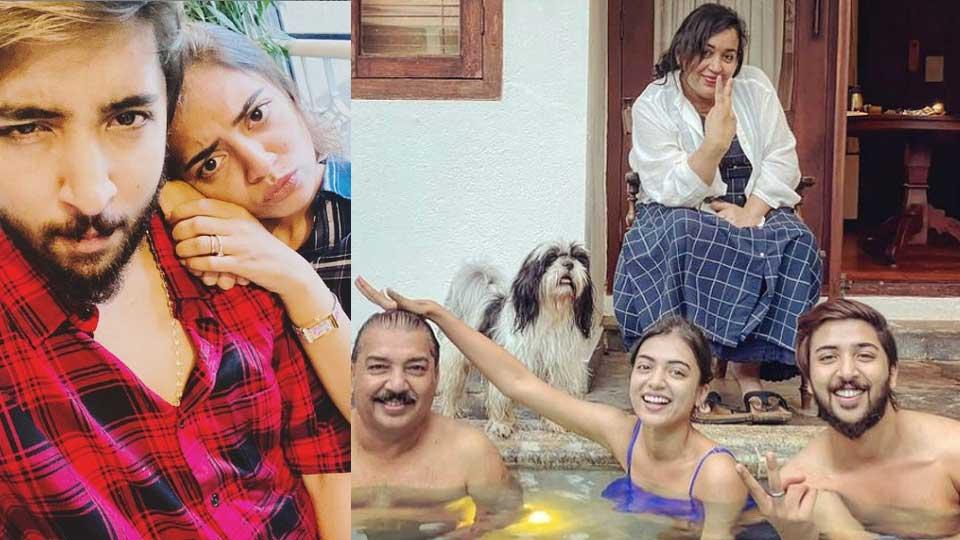 Nazriya with family